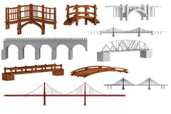 3d render of bridges Royalty Free Stock Photos