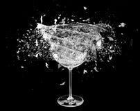 3d render, Broken wine glass Royalty Free Stock Photo