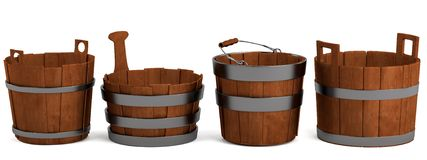 3d render of buckets Stock Image