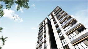 3D render of building facade design Stock Images