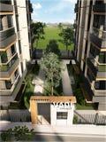 3D render of building facade design