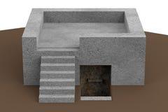 3d render of bunker Stock Photos