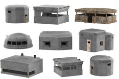 3d render of bunkers Royalty Free Stock Image