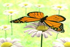 3d render of butterfly. Realistic 3d render of butterfly Royalty Free Stock Photo