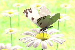 3d render of butterfly. Realistic 3d render of butterfly Stock Photos
