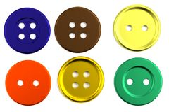 3d render of buttons Stock Photography