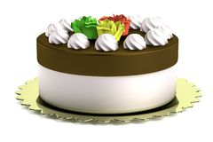 3d render of cake. Realistic 3d render of cake Royalty Free Stock Images