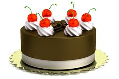 3d render of cake. Realistic 3d render of cake Royalty Free Stock Photo