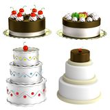 3d render of cakes Stock Images
