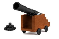 3d render of cannon Stock Image