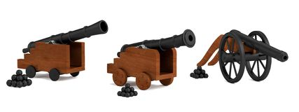3d render of cannons Stock Photography