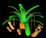 Cartoon character in carnivorous plant Stock Photography