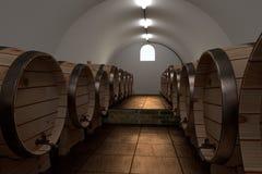 3d render of cellar Stock Image