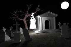 3d render of cemetery Royalty Free Stock Image