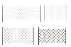 3d render of chain fences Royalty Free Stock Photography