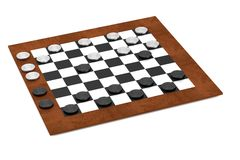 3d render of checkers Royalty Free Stock Images