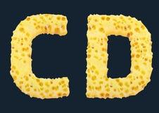 3D Render of Cheese Alphabet stock photo
