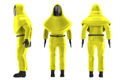 3d render of chemical man Royalty Free Stock Photography