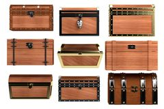 3d render of chests Royalty Free Stock Images