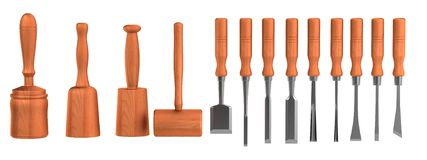 3d render of chisel Stock Images