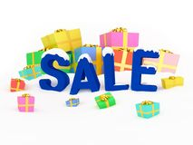 3D render Christmas sale. Royalty Free Stock Images