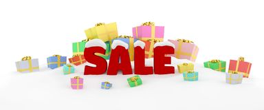 3D render Christmas sale Royalty Free Stock Images