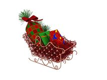 3d render of Christmas sleigh. royalty free illustration