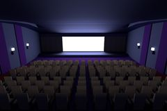 3d render of cinema Royalty Free Stock Photography