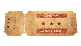 3D Render of Cinema Ticket. Realistic 3D Render of Cinema Ticket Royalty Free Stock Images