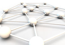 3D RENDER OF CIRCLES FORMING A TEAM NETWORK. Metaphor for connections, teamwork and communication Royalty Free Stock Image