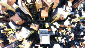 3d render of city. Superior quality vector illustration