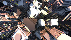 3D render of city Stock Images