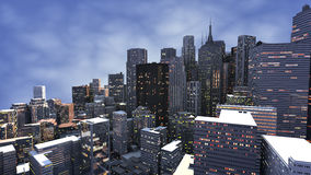 3D render of city royalty free stock image