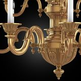 Chandelier. 3d render classic chandelier model stock illustration