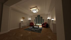 3D Render of Classic Deco 0001 royalty free stock photography
