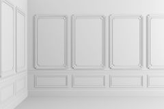 3d render of classic interior Royalty Free Stock Photo