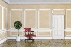 3d render of classic interior Royalty Free Stock Images