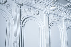 3d render classic white interior wall Royalty Free Stock Images