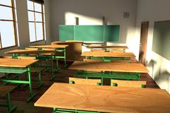 3d render of classroom Royalty Free Stock Images