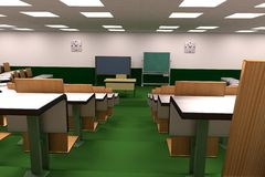 3d render of classroom Stock Photography