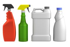 3d render of cleaners Royalty Free Stock Photo