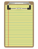 3d Render of a Clipboard With Paper Stock Image
