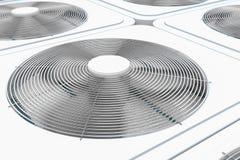 3d render of close up view on HVAC units vector illustration