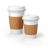 3d render - coffee cups. On white background Stock Photo