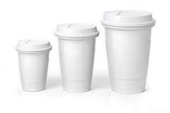 3d render - coffee cups. On white background Royalty Free Stock Images