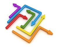 3d Colorful Arrow. 3d render of Colorful Arrow stock illustration