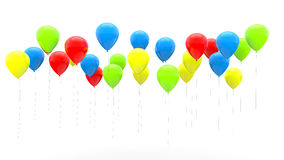 3d render of colorful balloons Stock Photos
