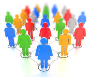 3D render of a colorful crowd - shot3 Stock Photo