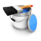 3d render of colorful paint bucket Stock Images