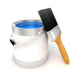 3d render of colorful paint bucket Royalty Free Stock Image
